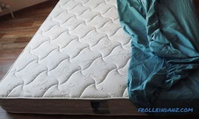Bed mattress sizes and selection rules