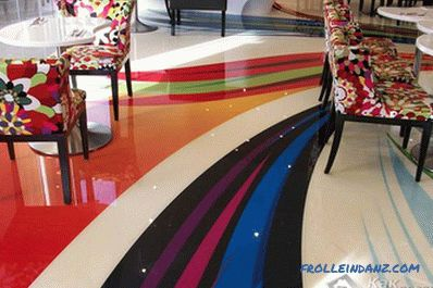 DIY polymer flooring - how to make (+ photos)