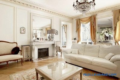 French style in the interior - the rules of design and photo design ideas