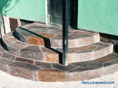 How to make a concrete porch - step by step instructions