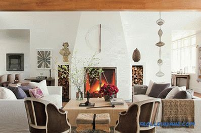 Living room design with fireplace - 47 interiors and photo ideas