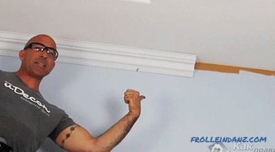 How to glue baguettes on the ceiling