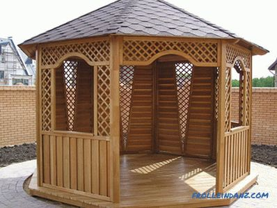 Country gazebos do it yourself (photo and video)