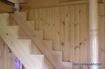 Installation of wooden stairs: design elements