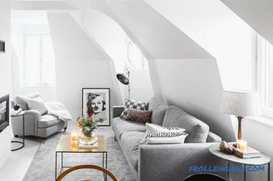 Scandinavian style living room interior