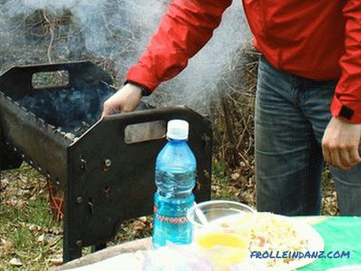 Folding grill with their own hands (+ photos)