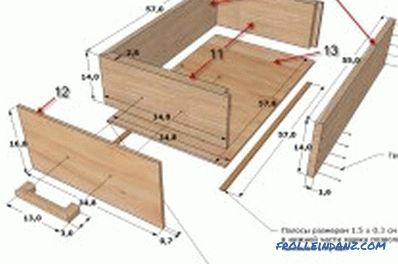 drawing and assembly of furniture (photo)