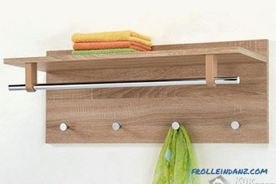 Wall hanger with your own hands - how to make a hanger for clothes in the hallway of wood (+ photos)