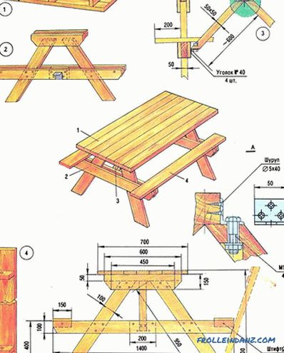Garden furniture with their own hands from wood, pallets + photos, drawings, diagrams