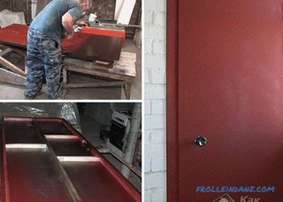 How to paint a metal door - self-painting technology