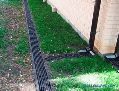 Wall basement drainage - foundation with drainage system