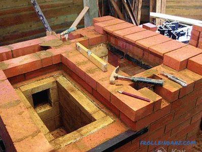 How to lay the furnace at the cottage of bricks