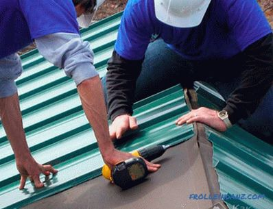 How to cover the roof with iron - installation of metal roof + photo