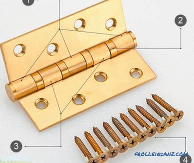 Types of door hinges, their difference and design features + Photo