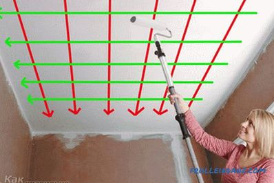 How to paint the walls and ceiling roller + photo, video