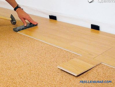 Laying laminate on uneven floors