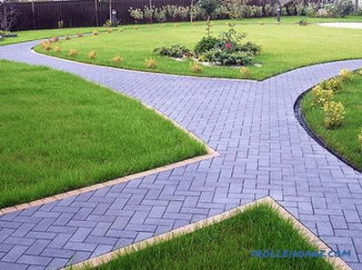 Arrangement of garden paths - varieties, features and installation