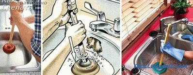 How to clean the sink from clogging