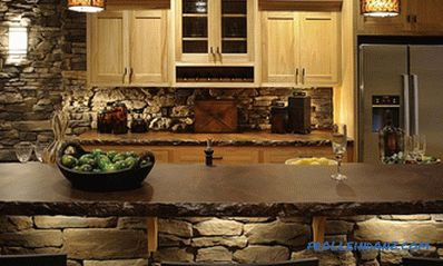 Stone in the interior of the kitchen - the idea of ​​finishing the kitchen with decorative stone