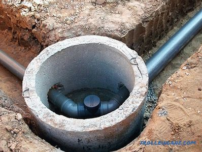 Sewerage in the country with their own hands + photos, diagrams, drawings