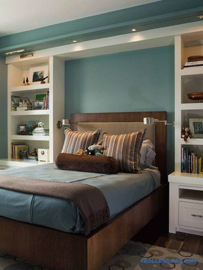 How to make a niche in the bedroom above the bed (+ photos)