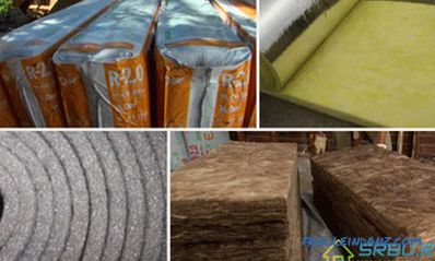 All types of insulation and their characteristics + Photo and Video
