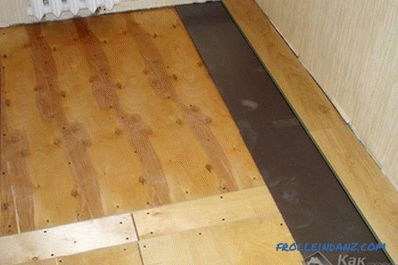 Laying plywood under the laminate with their own hands