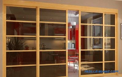 Do-it-yourself wooden partition walls: views (video)