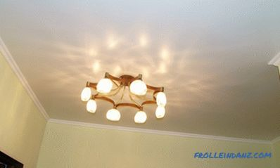 Stretch ceilings pros and cons of various types and designs