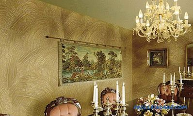 Decorative plaster in the interior - the rules of selection and photo ideas