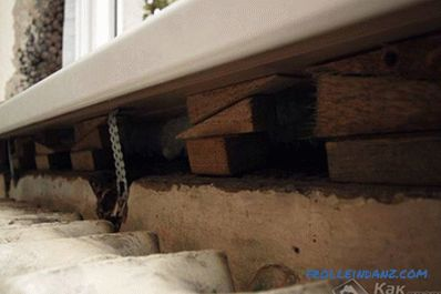 Installing a plastic window sill do it yourself