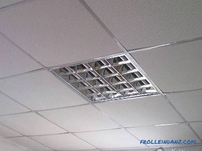 Installation of a suspended ceiling Armstrong do it yourself