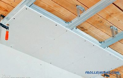 How to level the ceiling with plasterboard - leveling the ceiling with drywall
