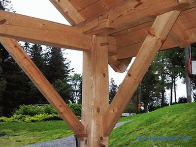 Arbor do-it-yourself made of wood (+ diagrams, photos)