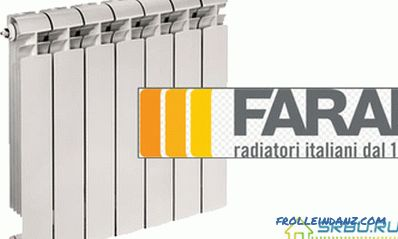 Dimensions of aluminum radiators and their sections