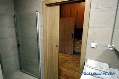 Which door is better to put in the bathroom and toilet
