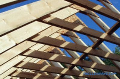 How to install rafters: tools, materials, progress