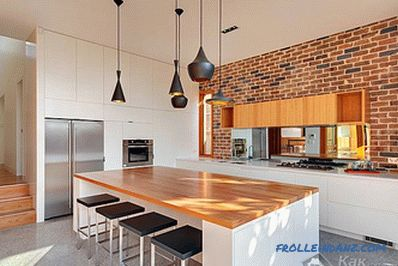 The design of the walls in the kitchen - in detail about the design of the kitchen wall + photo