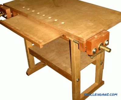 making the frame, countertops, mounting vice