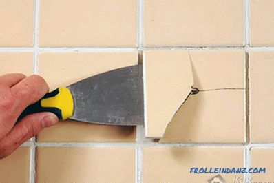 How to remove tiles from the wall