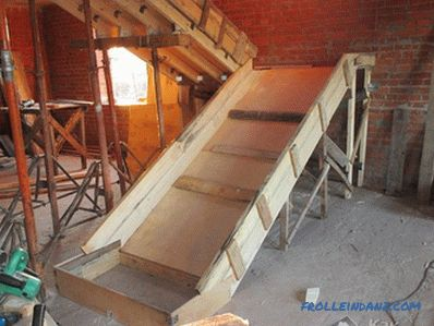 How to make a formwork for the stairs