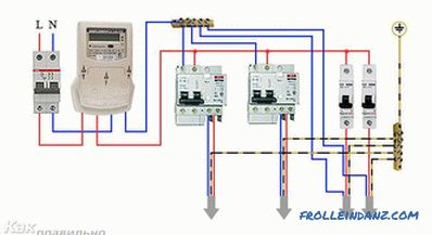 How to connect the RCD - wiring diagram