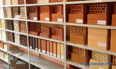 Types of bricks - we arrange everything in shelves + Photo