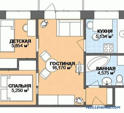 Design of Khrushchev 90 photos - redevelopment and design options