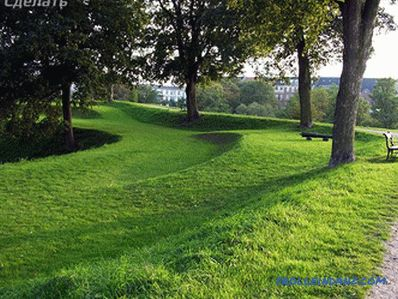 Geoplastic in landscape design - the manufacture of artificial hills (+ photos)