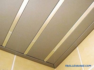 DIY aluminum ceiling - installation of slatted ceilings