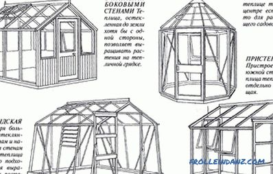 Greenhouse made of polycarbonate do-it-yourself + drawings, diagrams, photos