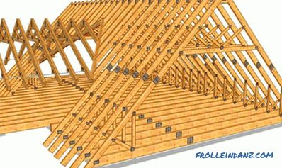 How to install rafters on the roof