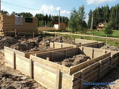 How to make a foundation formwork with your own hands
