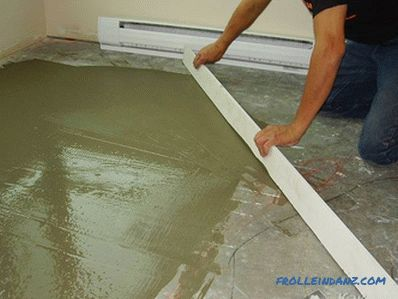How to make a floor screed